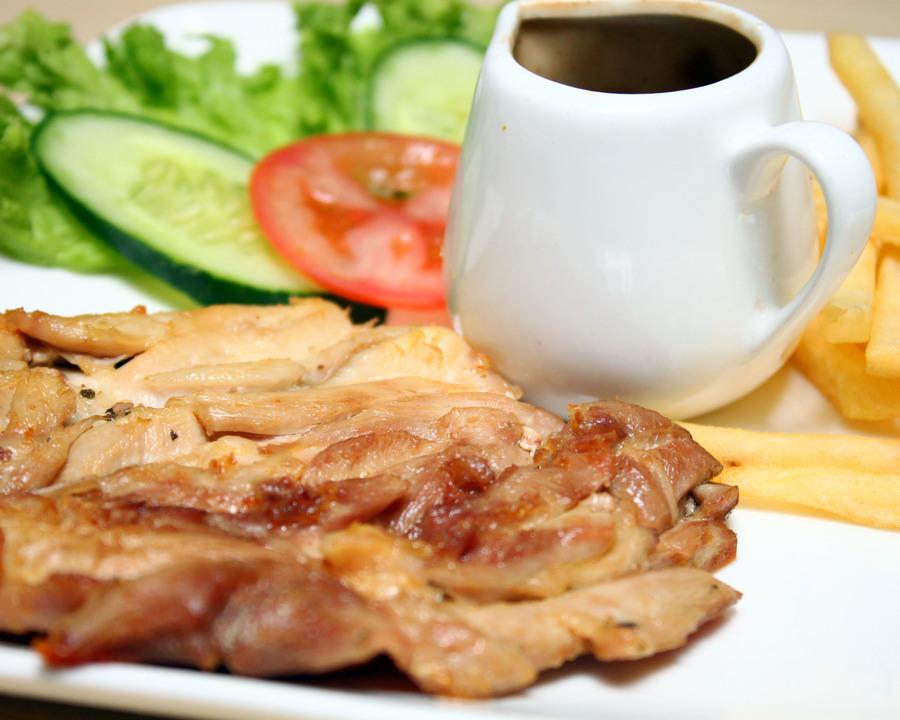 Medium grilled chicken chop