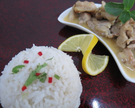 Small lemon chicken w rice