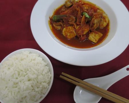 Small sambal chicken w rice