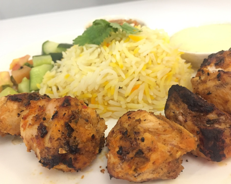 Medium shish tawook grilled ckn   rice