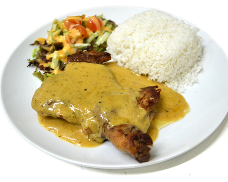 Small mexican chicken chop with cajun sauce  1